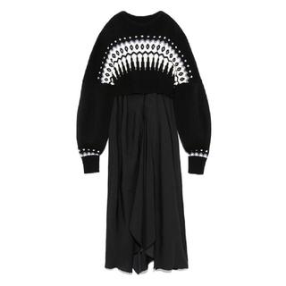 ファーファー(fur fur)のFURFUR♡ノルディック リバーシブル ニット ドレス(ロングワンピース/マキシワンピース)
