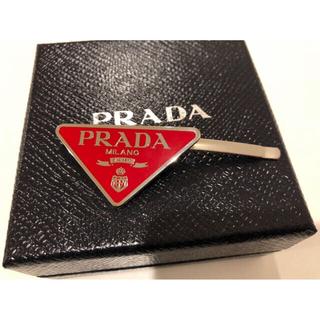 プラダ(PRADA)の【新品】PRADA プラダ ヘアピン ヘアアクセサリー 赤 レッド(ヘアピン)