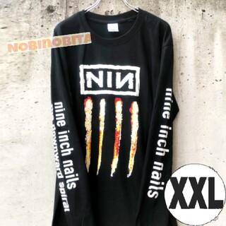 フィアオブゴッド(FEAR OF GOD)の黒XXL)ロンT Nine inch nails  NIN ロック(Tシャツ/カットソー(七分/長袖))