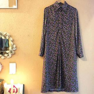 サンタモニカ(Santa Monica)のflower dress(ひざ丈ワンピース)
