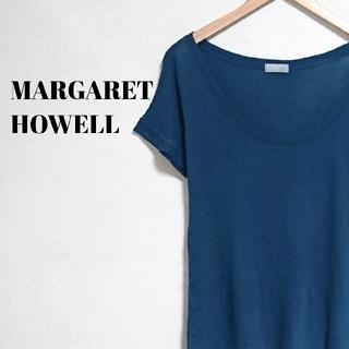 マーガレットハウエル(MARGARET HOWELL)のラグジュアリー☆ マーガレットハウエル Tシャツ クラシックブルー レディース(Tシャツ(半袖/袖なし))
