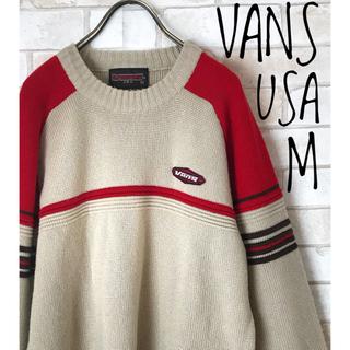 ヴァンズ(VANS)の【希少・1点物】古着 vans USAニットセーターM(ニット/セーター)