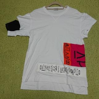 オニツカタイガー(Onitsuka Tiger)のonitsuka tiger x andrea pompilio 変型 Tシャツ(Tシャツ/カットソー(半袖/袖なし))