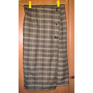 オリーブデオリーブ(OLIVEdesOLIVE)のチェックタイトスカート(ロングスカート)