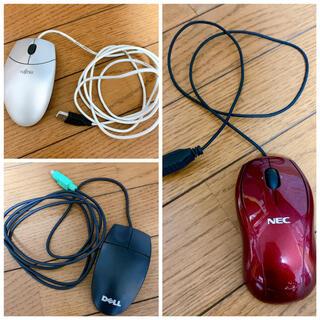 エヌイーシー(NEC)の有線マウス 3点セット(PC周辺機器)