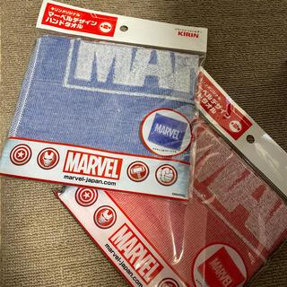 マーベル(MARVEL)の2枚セット!マーベルデザインハンドタオル(タオル)