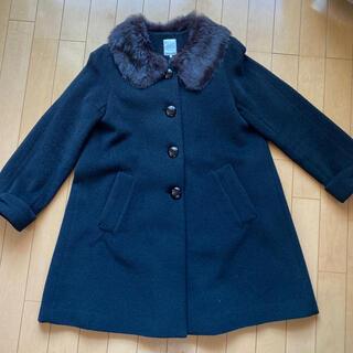 テチチ(Techichi)の⭐︎冬服セール⭐︎リボンの袖口が可愛いコート ブラック(ロングコート)