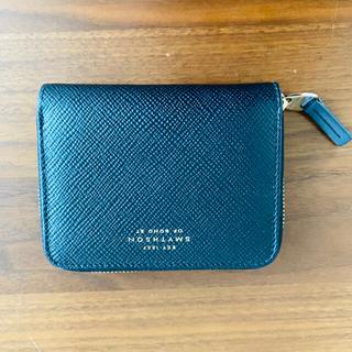 スマイソン(Smythson)の送料込み スマイソン 黒 ジップウォレット 財布 カード smythson (財布)