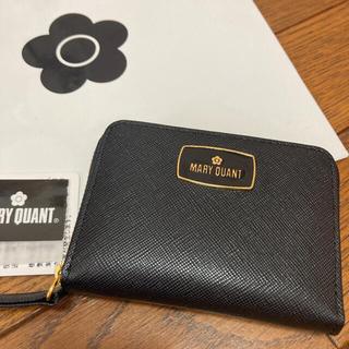 マリークワント(MARY QUANT)の新品 マリークワント パス付きマルチケース 牛革 黒(名刺入れ/定期入れ)