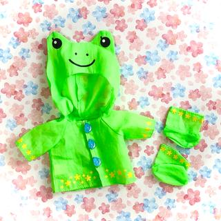 PILOT - メルちゃんの服1・カエルのレインコート