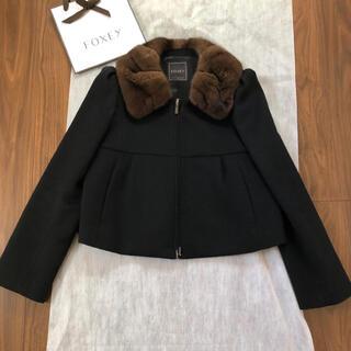 フォクシー(FOXEY)の美品♡ フォクシー 最高級 ミンク襟 カシミヤ コート(毛皮/ファーコート)
