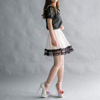ユメテンボウ(夢展望)の夢展望 裾ダブルフリル スカート(ミニスカート)