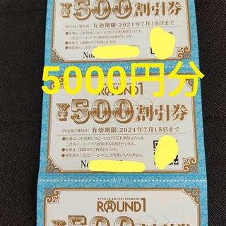ラウンドワン 株主優待 5000円分(その他)