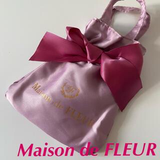 メゾンドフルール(Maison de FLEUR)のメゾンドフルール ムック本 付録 ミニバッグ💕新品✨ピンク(エコバッグ)