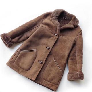 エディットフォールル(EDIT.FOR LULU)の【期間限定値下げ】vintage  リアルムートン コート ジャケット(ムートンコート)