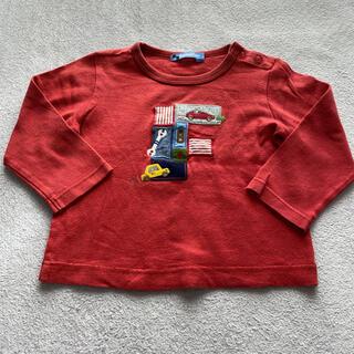 ファミリア(familiar)のファミリア 長袖Tシャツ 赤 男の子女の子(Tシャツ/カットソー)