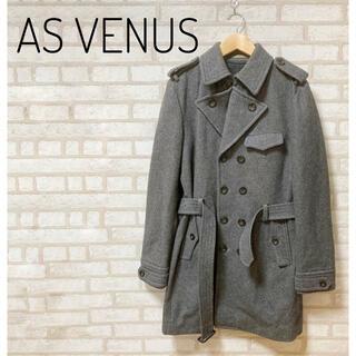 アズヴィーナス(ASVENUS)の【美品】AS VENUS メンズ トレンチコート M グレー(トレンチコート)