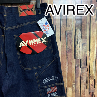 アヴィレックス(AVIREX)のアヴィレックス AVIREX ペインターパンツ ワイドパンツ ビッグシルエット(ペインターパンツ)