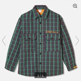 ジーユー(GU)のGU ダブルポケットチェックシャツ(長袖)STUDIO SEVEN(カバーオール)