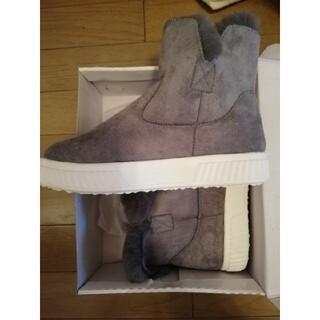 冬ブーツ グレー 23cm(ブーツ)