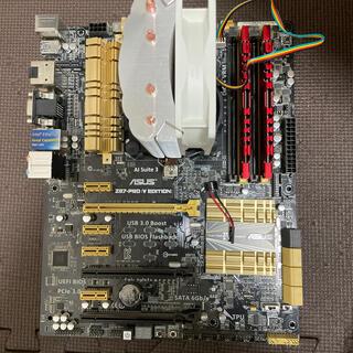 エイスース(ASUS)のcore i7 4770k Z87-PRO メモリ8GBセット(PCパーツ)