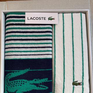 ラコステ(LACOSTE)のラコステ スポーツ&フェイスタオルセット(タオル/バス用品)