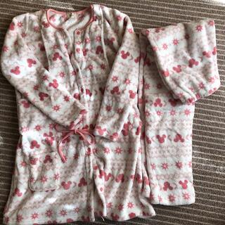 ディズニー(Disney)の授乳服 ディズニー もこもこパジャマ上下セット(パジャマ)