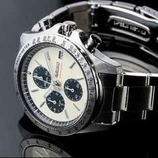 セイコー(SEIKO)の新品 別注セイコー×ナノ・ユニバース クロノグラフ 白 SZSJ006(腕時計(アナログ))