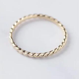 ジューシーロック CYCRO K10YG ツイストリング サイズ5号(リング(指輪))