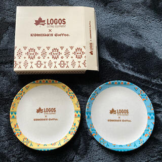 ロゴス(LOGOS)のLOGOS×コメダ バンブーファイバープレート 2枚(ノベルティグッズ)