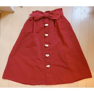 メリージェニー(merry jenny)のくまちゃん沢山スカート(赤)(ロングスカート)
