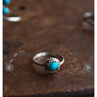 インディアンジュエリーターコイズリングnavajo turquoise ring(リング(指輪))