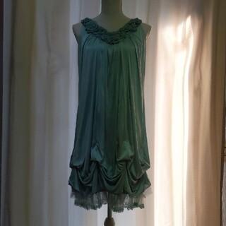アクシーズファム(axes femme)の新品未使用axes femme バラモチーフボドレードレス(ミディアムドレス)