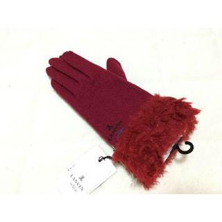 ランバンオンブルー(LANVIN en Bleu)の新品♪LANVINランバン レディース刺繍手袋スマホ対応(手袋)