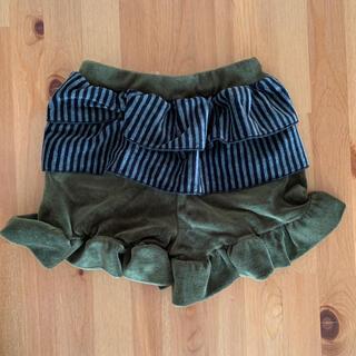 ユニカ(UNICA)の品 100cm UNICA ユニカ ベロアフリルショートパンツ 女の子 冬用(パンツ/スパッツ)
