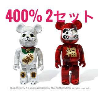 メディコムトイ(MEDICOM TOY)のNEW YEAR BE@RBRICK BAPE 招き猫 & 達磨 400%×2(その他)