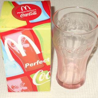 コカコーラ(コカ・コーラ)のコカ・コーラ コンツアーグラス ピンク 2008 マクドナルド★新品未使用(ノベルティグッズ)