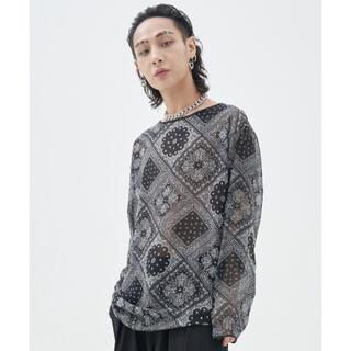 ピースマイナスワン(PEACEMINUSONE)のfekete ペイズリー ロングT(Tシャツ/カットソー(七分/長袖))