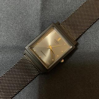 カシオ(CASIO)のCASIO カシオ チープカシオ グレー/ゴールド ステンレスバンド交換済み(腕時計(アナログ))