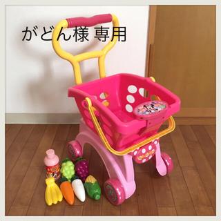 ディズニー(Disney)のミニーちゃん ショッピングカート おもちゃ おまけ付き✴︎(手押し車/カタカタ)
