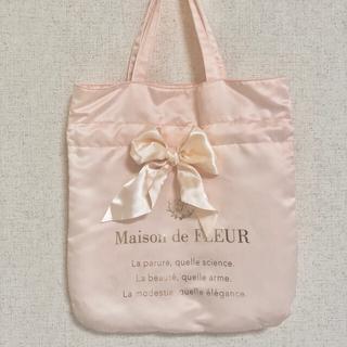 メゾンドフルール(Maison de FLEUR)のメゾンドフルール リボントートバッグ ピンク(トートバッグ)