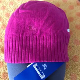 バーバリーブルーレーベル(BURBERRY BLUE LABEL)のバーバリー ニット帽子p(ニット帽/ビーニー)