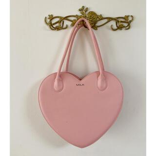 ミルク(MILK)の【MILK】ピンクのハートバッグ(ハンドバッグ)