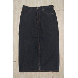 アズールバイマウジー(AZUL by moussy)のインディゴデニム タイトスカート Mサイズ(ひざ丈スカート)