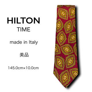 ヒルトンタイム(HILTON TIME)の【美品】HILTON TIME ネクタイ イタリア製 パターン柄(ネクタイ)