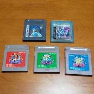 ゲームボーイ(ゲームボーイ)のポケットモンスター 赤・青・緑・銀・クリスタル (ゲームボーイ)(携帯用ゲームソフト)