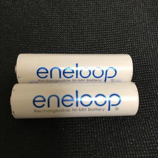 サンヨー(SANYO)の【中古品】エネループ 単三 2本 充電器無し(バッテリー/充電器)