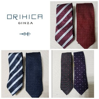オリヒカ(ORIHICA)の【超美品/2020年購入/クリーニング済】ORIHICAネクタイ6点セット(ネクタイ)
