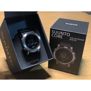 スント(SUUNTO)のSUUNT CORE BRUSHED STEEL スント デジタル 時計(腕時計(デジタル))