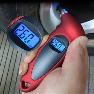 新品 ☆ タイヤエアゲージ ☆ タイヤ空気圧ゲージ(工具/メンテナンス)